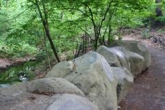 The boulders of Rock Arch Bridge